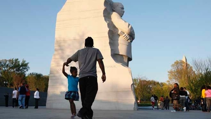 April 4, 2012: People visit the Martin Luther King, Jr. Memorial in Washington.