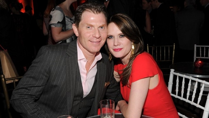 "Jan. 9, 2013: Chef Bobby Flay and girlfriend actress Stephanie March attend the HBO ""Girls"" premiere after party at Capitale in New York."