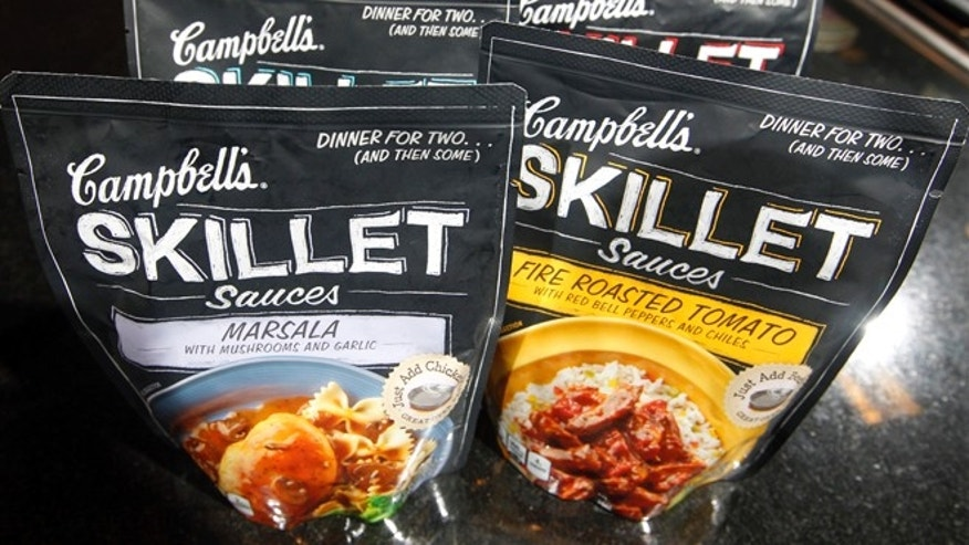 Aug. 24, 2012: Campbell's new Skillet sauces are displayed at the Campbell Soup Company headquarters in Camden, N.J.