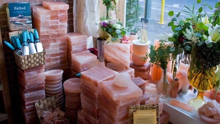 Salt comes in myriad forms, from the flaky fleur de sel, the chunkier grains of sel gris, to quarried and cut blocks like these Himalayan salt blocks.