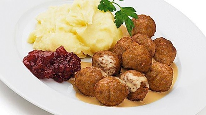 Swedish meatballs with lingenberry jam sold by Ikea.