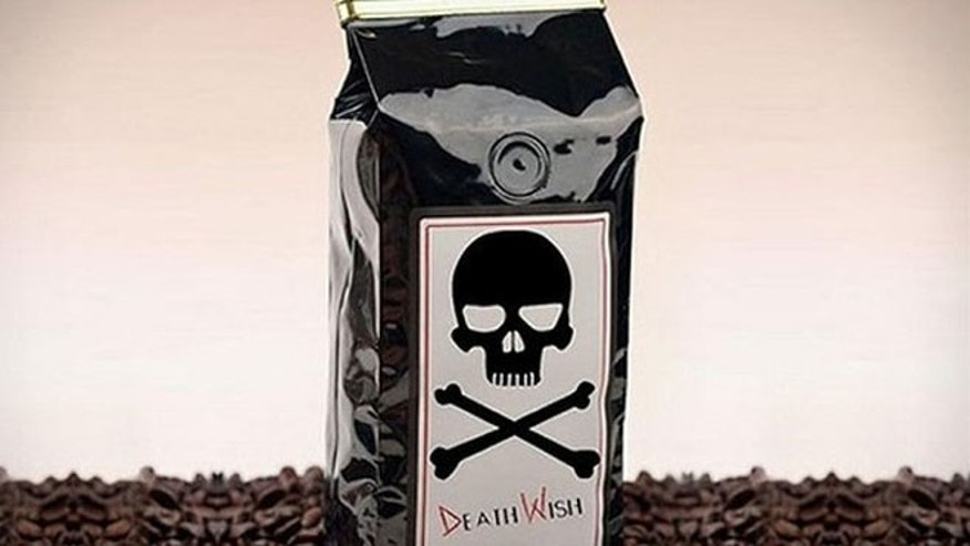 Death Wish Coffee, with about twice the caffeine as a normal brew, bills itself as coffee not for the faint of heart.