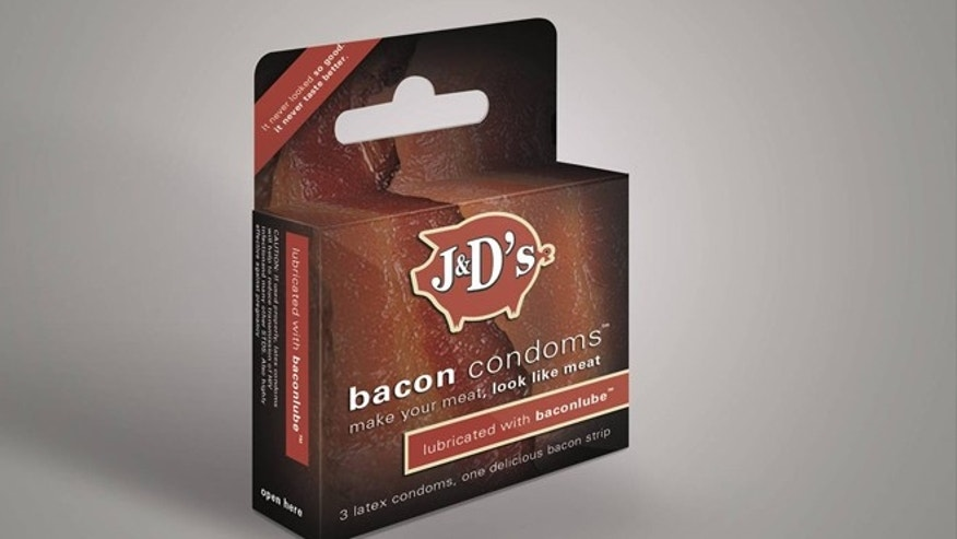 J&D's Bacon Condoms sell for $9.99 per 3-pack .