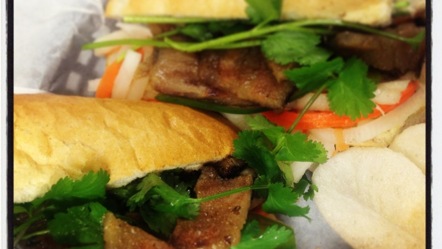 Pork belly banh mi from Sprig & Sprout.
