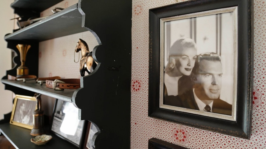 March 15, 2013: A photograph of actor Fred MacMurray and his actress wife June Haver hangs in an upstairs room of MacMurray's home at the MacMurray Ranch in Healdsburg, Calif.