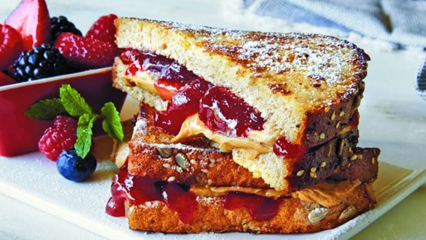 French Toast Peanut Butter and Jelly Sandwiches