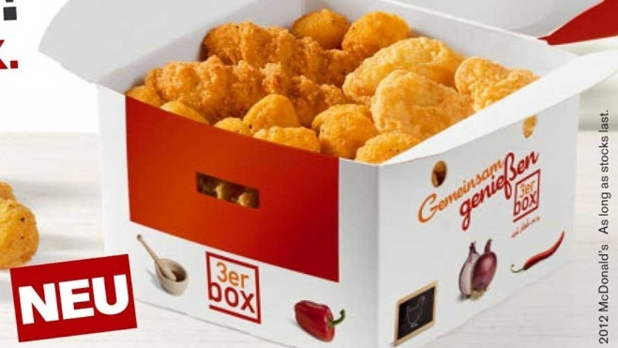 The Chicken Box comes with choices, which includes varied portions of Mcnuggets, Chicken Sticks, and McBites.