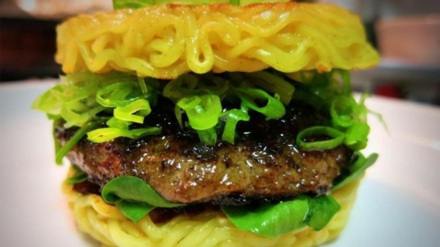 Meet the latest food craze since the cronut: the ramen burger. .