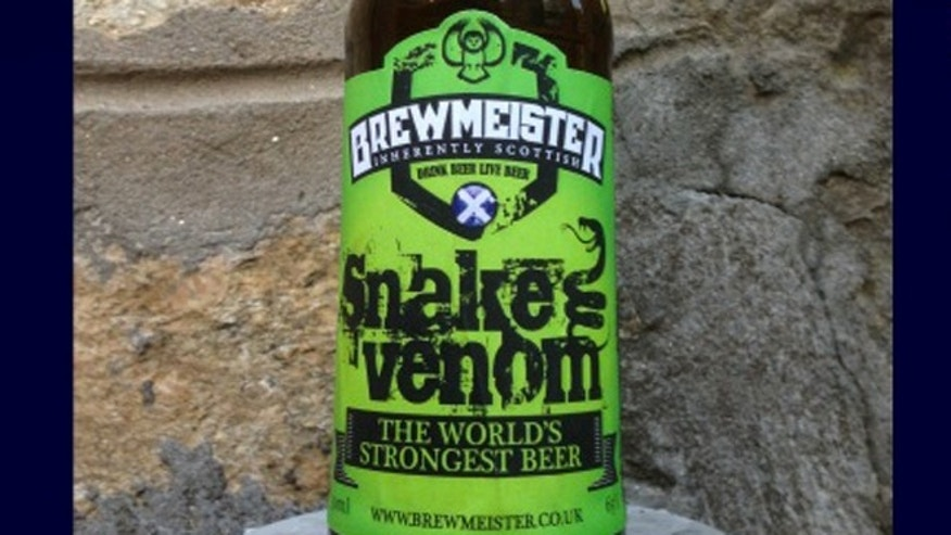 Snake Venom has a whopping 67.5 per cent alcohol content.