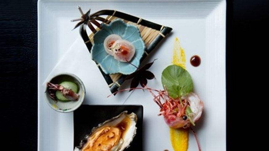 Here is a modern take on the traditional multi-course Japanese dinner, kaiseki, from n/naka restaurant in Los Angeles.