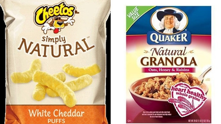 "Frito-Lay's Cheetos will simply be called ""Simply,"" although the ingredients remain the same. Similarly, its ""Natural Quaker Granola"" got a makeover as ""Simply Quaker Granola."""