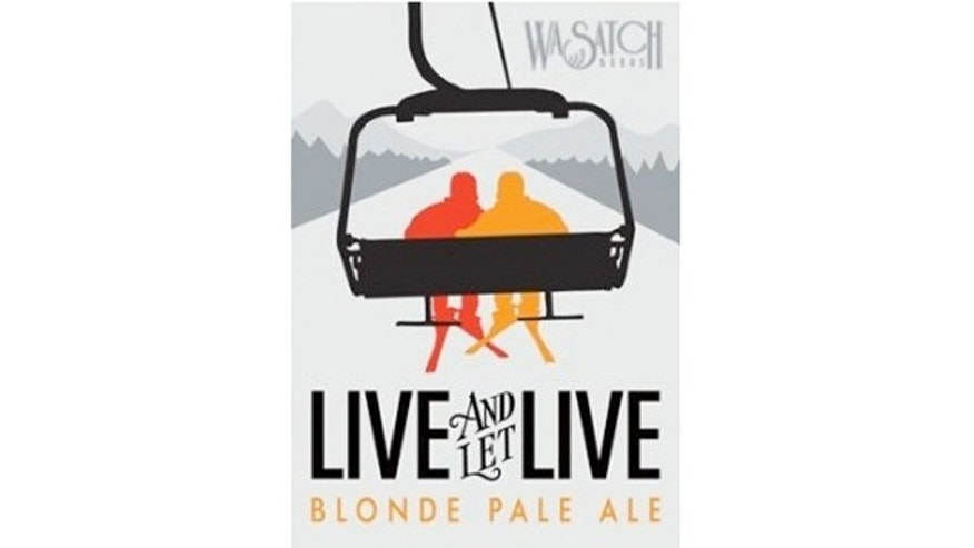 "Live and Let Live is a blonde pale ale made from ""two beautiful malts and two wonderful hops, all fermented with a pair of yeasts."""