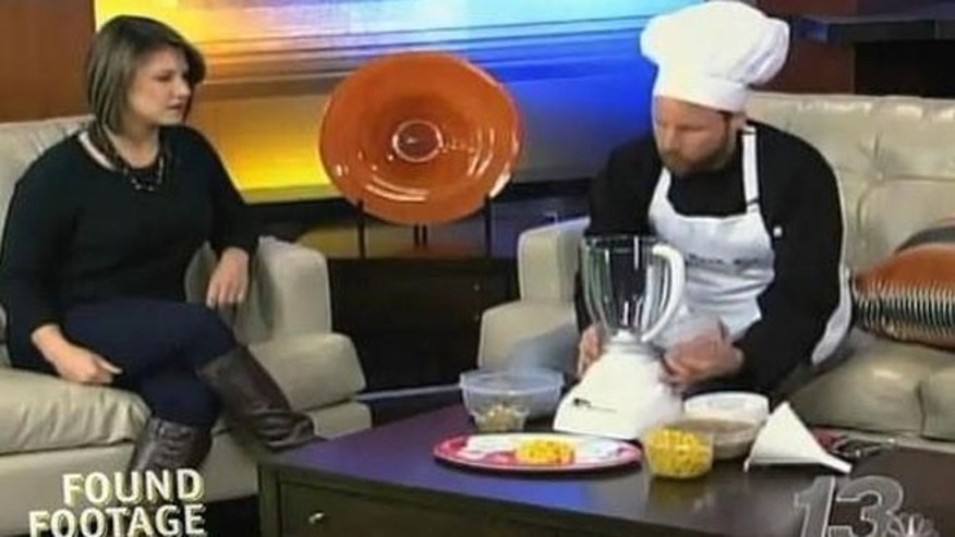 Nick Prueher--aka Chef Keith Guerke-- was booked on five morning shows throughout the Midwest to demonstrate his take on Thanksgiving leftovers.