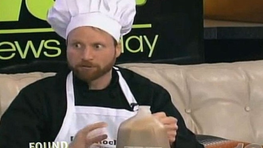 Chef Guerke was promoting a fake cookbook even got an anchor to beat-box his recipes.