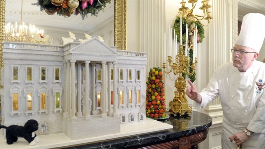 Pastry chef Bill Yosses created this nearly 300-pound gingerbread model of the White House in November 2012.