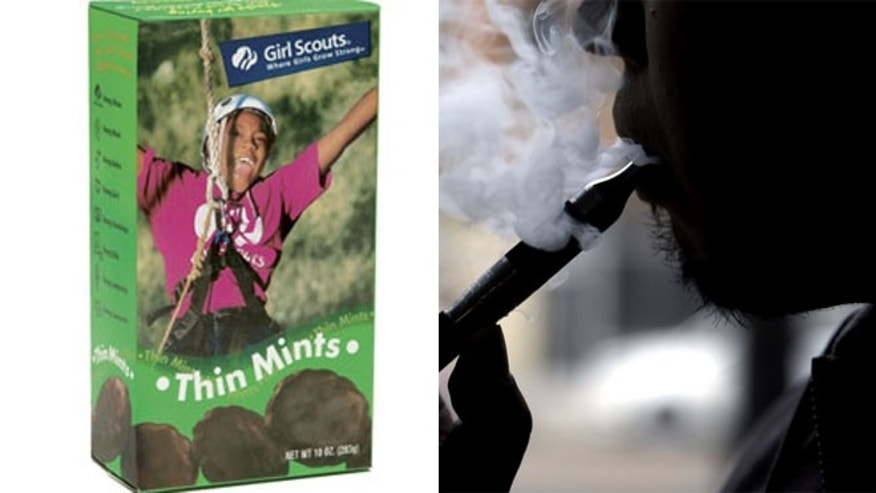 The Girl Scouts of the USA and Tootsie Roll Industries Inc. are among several companies that have sent cease-and-desist letters to makers of the liquid nicotine demanding they stop using the brands.