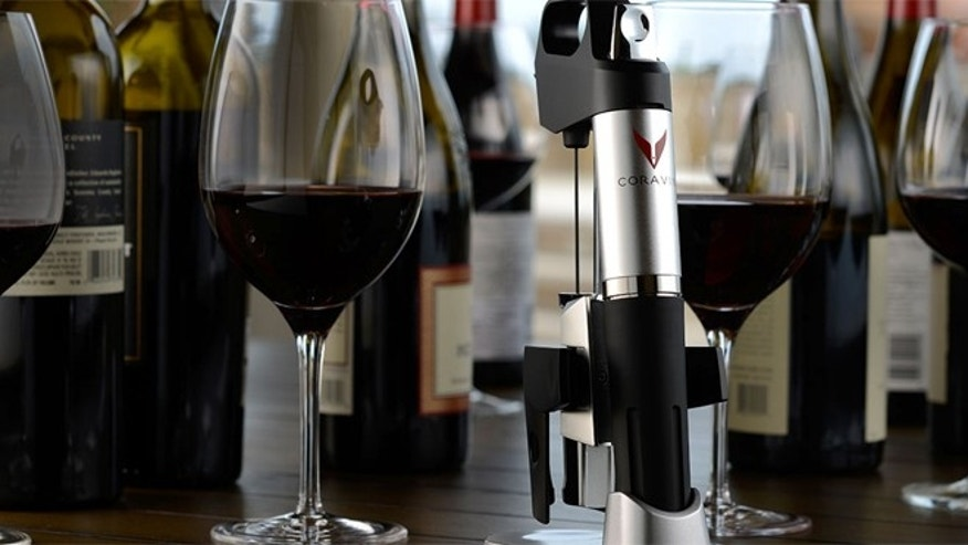 Coravin's Wine Access System 1000 uses argon gas to extract wine out of a bottle without actually popping the cork.