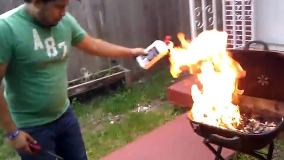 That flame looks a little high.