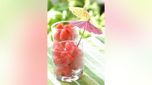 Watermelon cubes