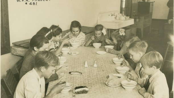 Project number 481 : Charles County. Lunches that are being served to the undernourished school children,  ca. 1934-1935