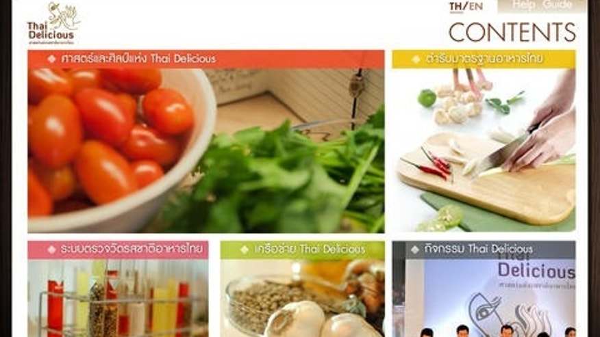 A screenshot of the Thai Delicious app.