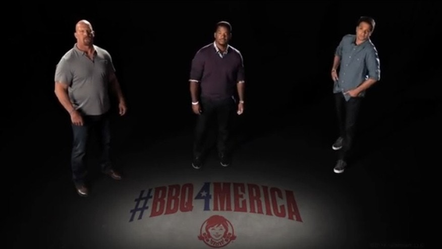 Three 90's legends light up the small screen in a new fast food commercial.