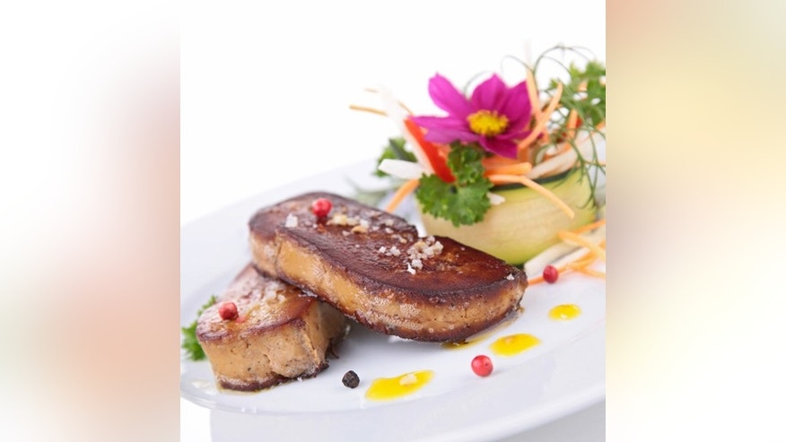 Grilled foie gras-- not available in California.