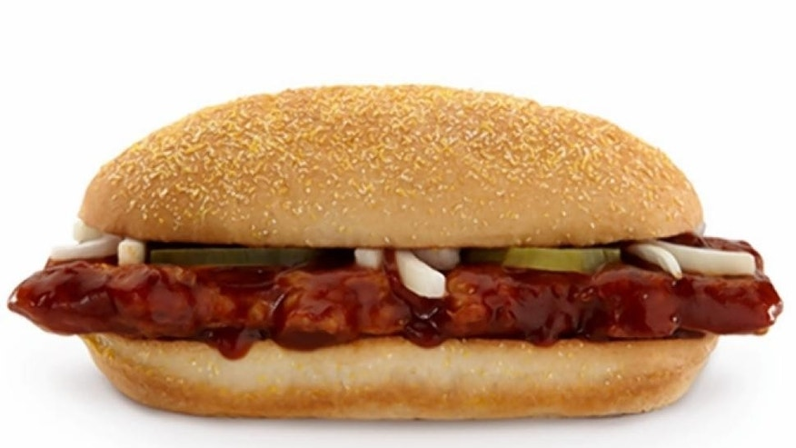The McRib is back...but only in select markets.