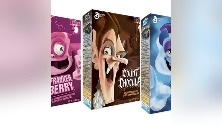 The monster cereal collection is in high demand around Halloween.