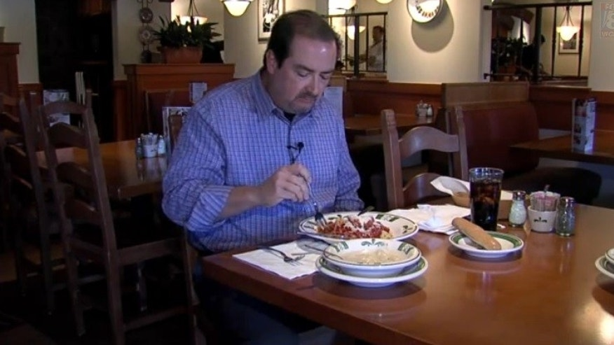 Alan Martin's has eaten 95 meals at Olive Garden over the past six weeks with his Never Ending Pasta Pass, and will continue to eat there twice a day until his pass expires on November 9th.