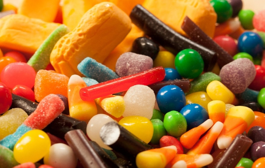 Close-up shot of candy.