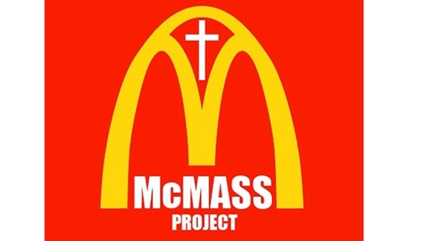 The McMass Project aims to attract worshipers through the lure of McDonald's burgers.