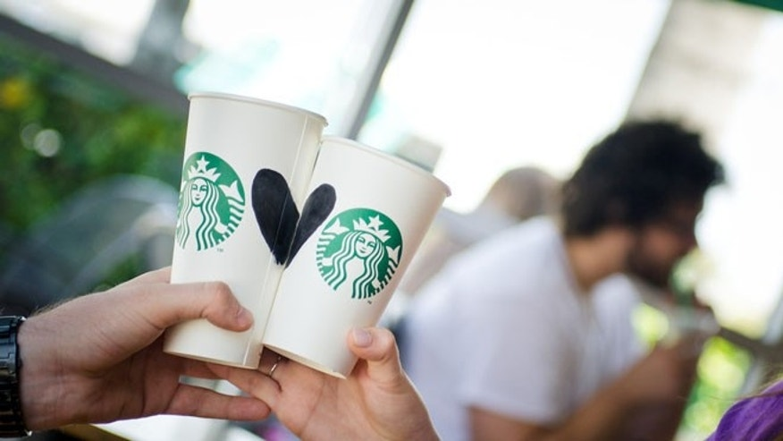 A Wisconsin decided to tie the knot at a Starbucks on New Year's Eve.