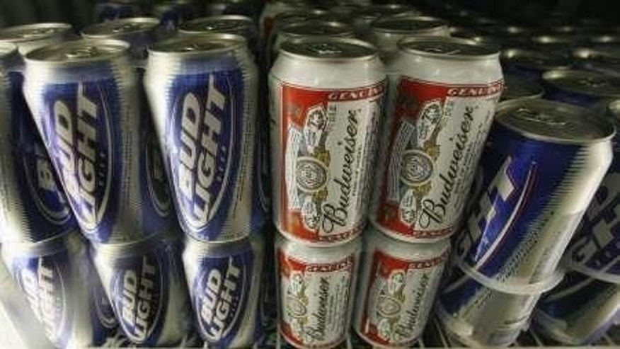 Cans of Bud Light and Budweiser are America's most bought beer.
