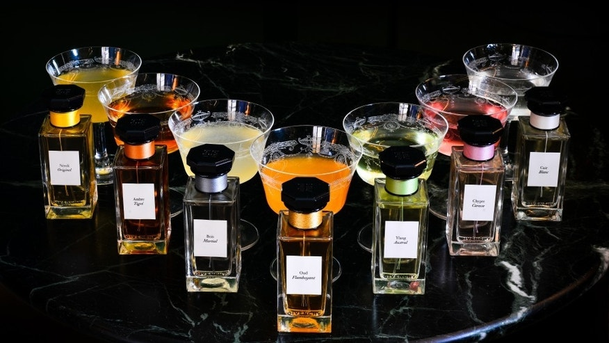 Craft cocktails inspired by the L'Atelier de Givenchy fragrance collection.