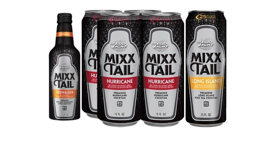 The new line of Bud Light MIXXTAILs.