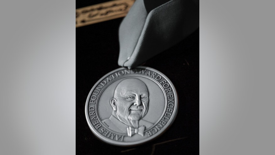The James Beard award that will be given to winners on May 4.