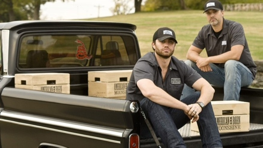 Sean  Koffel (left), a former Marine Corps captain and Iraq War veteran and Pat  Dillingham (right), a former quarterback for Notre Dame, wanted to make authentic moonshine that paid homage to the industrious bootleggers of America's past.