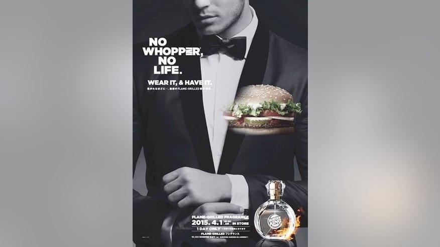Burger King is releasing a limited edition burger-scented cologne on April 1.