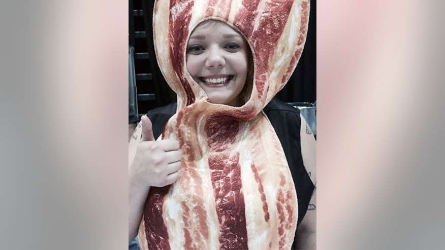 Fest goer Alex Mane dressed up like a slice of bacon.