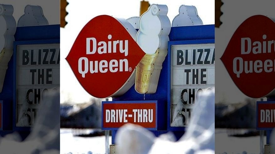 Dairy Queen says it's milk or water for kids --but you can still get ice cream.