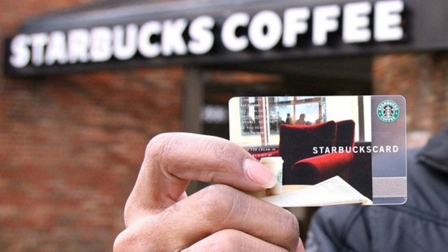 About one in six Starbucks customers use these cards –which can be automatically reloaded when the card balance is low through Starbucks' mobile app.