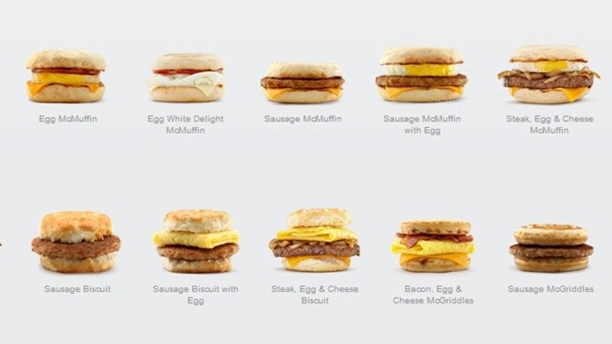 Most of McDonald's most popular morning sandwiches contain eggs.