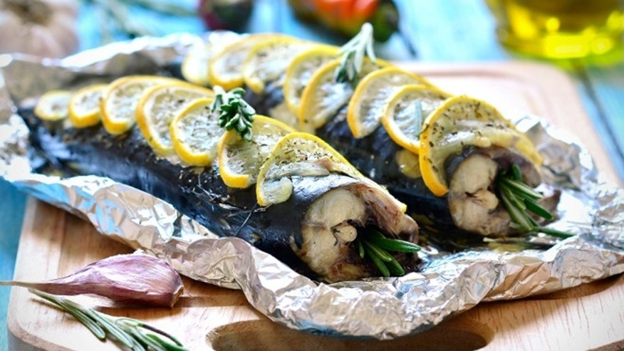 Mackerel can easily be baked in foil with lemon and rosemary.