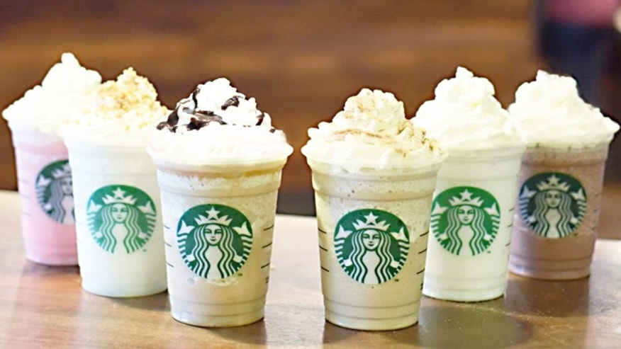 Starbucks debuts six new icy, creamy Frappuccino flavors to celebrate the beverage's 20 years.