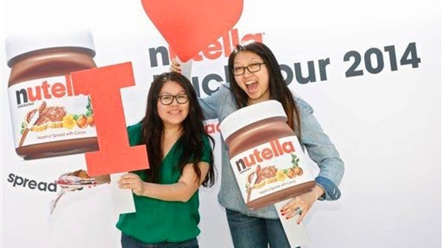 Fans enjoy a party for Nutella's 50th anniversary on Monday, May 19, 2014 in New York City.