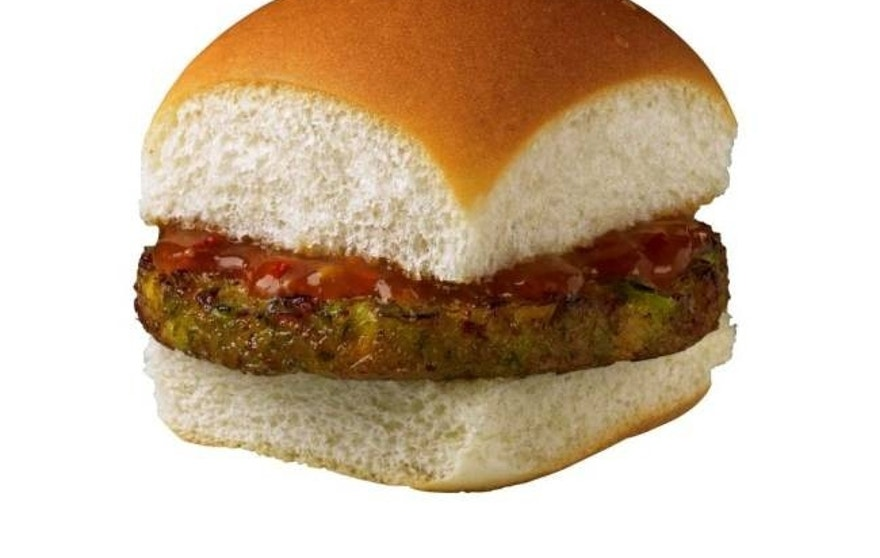 A veggie slider made with broccoli, zucchini, peas, corn, spinach, carrots and more.