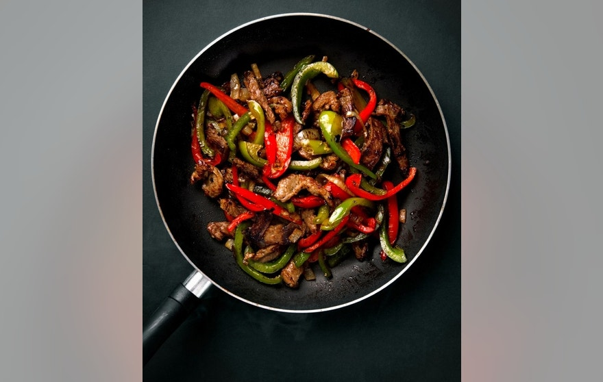 Sizzling steak is just the base for a great fajita.