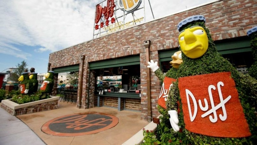 The entrance to Duff Garden at Universal Studios Orlando.