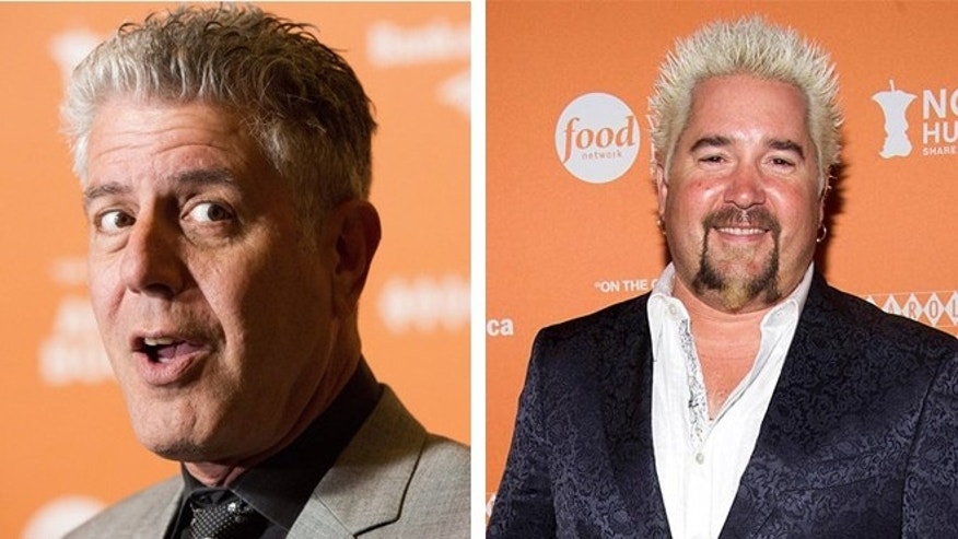 Bourdain is worried about Guy Fieri's played out look.